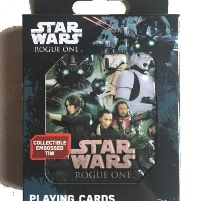54 cards game Star Wars One Rogue metal box