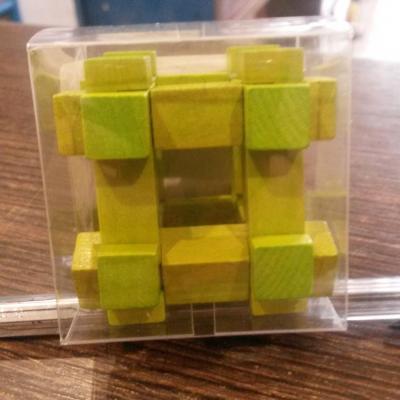 Mini casse tête carré vert 3cm