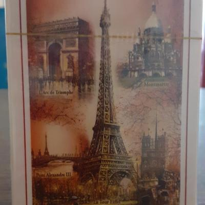 54 color monuments of Paris cards