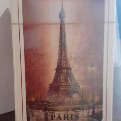 54 cartes tour Eiffel couleur