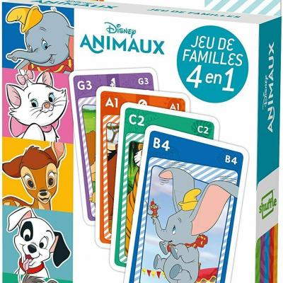 Cards game animals Disney 4 in 1