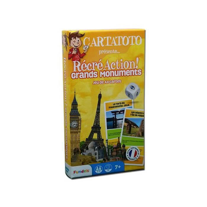 Cartatoto recre action grands monuments jeu de
