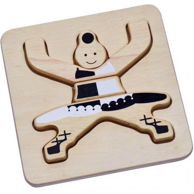 Wooden 3D puzzle circus dancer