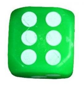Dé lumineux vert