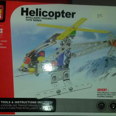 Helicopter 117 pieces Alloy Toy