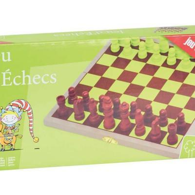 Coffret jeu d'échecs en bois