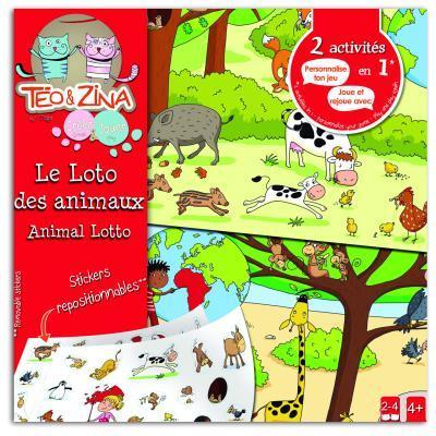 Loto des animaux à personnaliser Teo et Zina