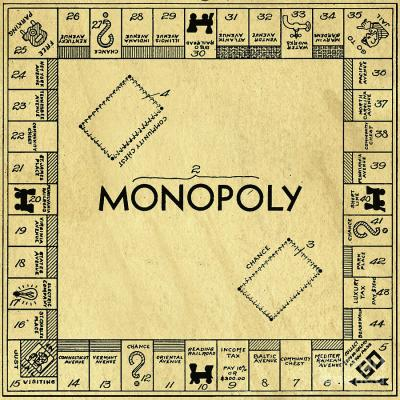 Original patent for monopoly board game square edward fielding