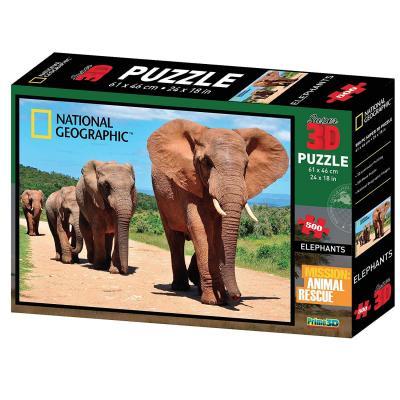 Puzzle éléphants 3D 500 pièces