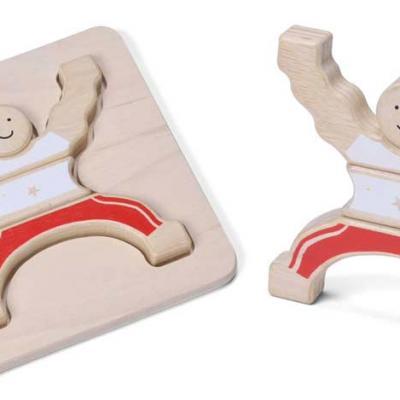 Puzzle 3D en bois cirque acrobate