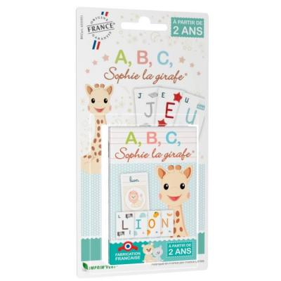 Card game letters Sophie la girafe