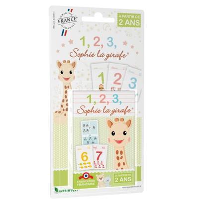 Jeu de cartes chiffres Sophie la girafe