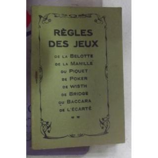 Tourel regles des jeux belotte manille piquet poker whist bridge baccara l ecarte livre ancien 971041425 l